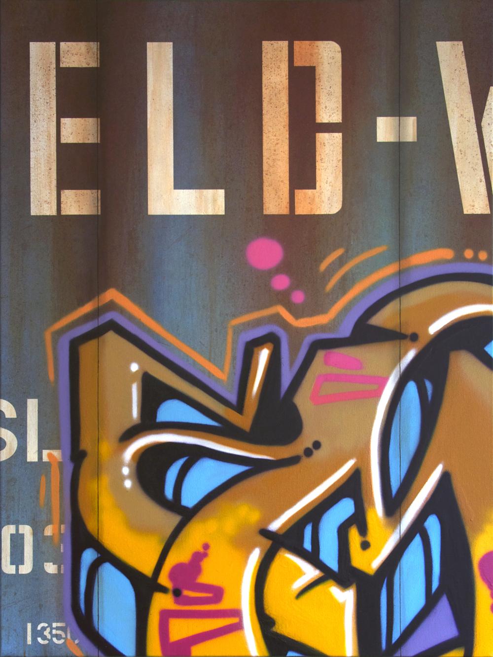 Blank Canvas #58 - JELD-WEN, Freight Train Painting, Boxcar Painting, Railroad Art, Tim Conlon Art