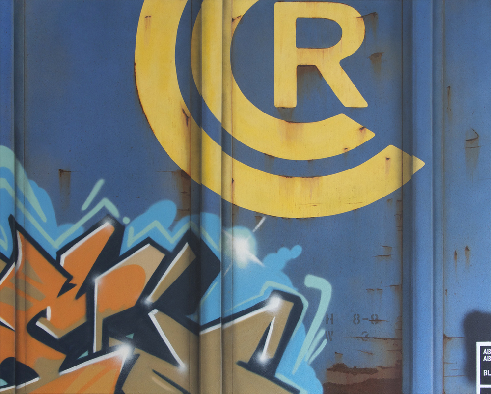 Blank Canvas #56 - CCR, Freight Train Painting, Boxcar Painting, Railroad Art, Tim Conlon Art