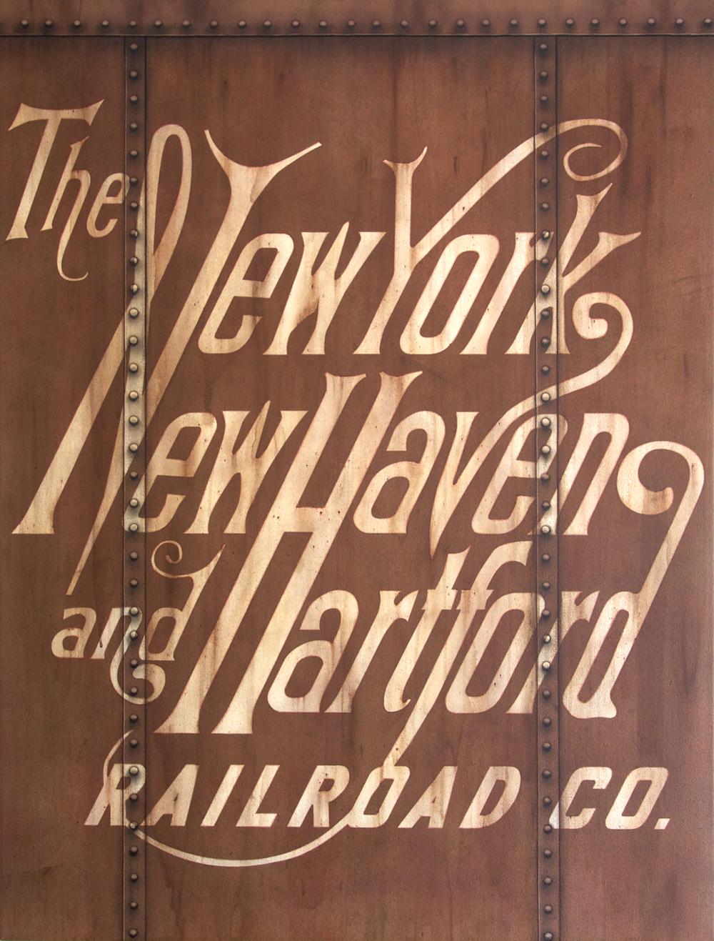 Blank Canvas #53 - NH, Freight Train Painting, Boxcar Painting, Railroad Art, Tim Conlon Art