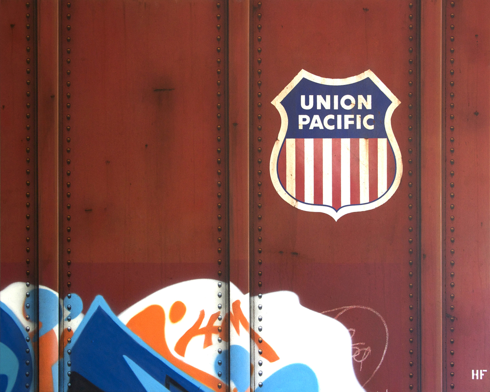 Blank Canvas #50 – UP, Freight Train Painting, Boxcar Painting, Railroad Art, Tim Conlon Art
