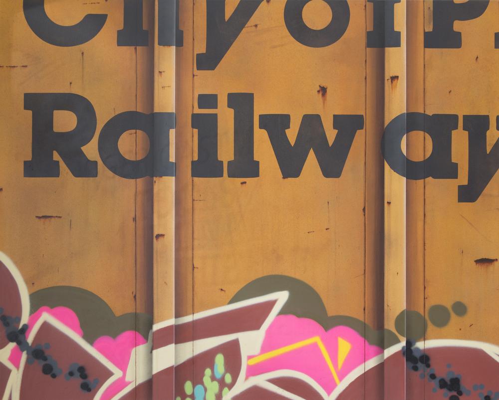 Blank Canvas #47 – COPR, Freight Train Painting, Boxcar Painting, Railroad Art, Tim Conlon Art
