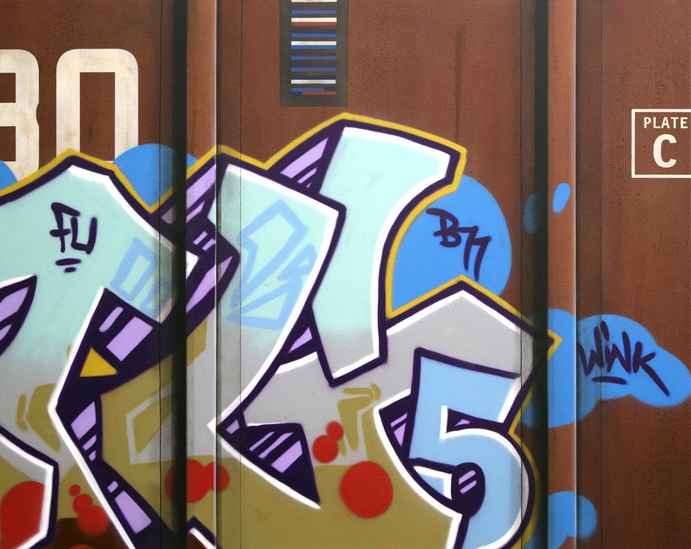 Blank Canvas #46 – Southern, Freight Train Painting, Boxcar Painting, Railroad Art, Tim Conlon Art