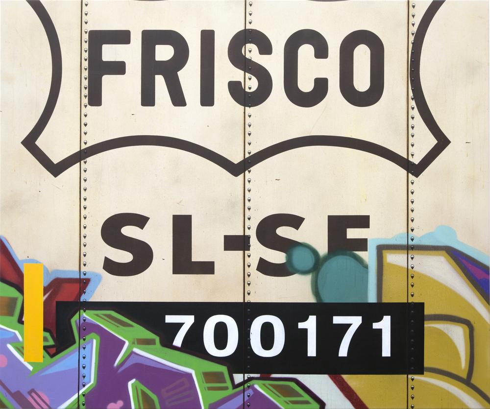 Blank Canvas #41 – Frisco, Freight Train Painting, Boxcar Painting, Railroad Art, Tim Conlon Art