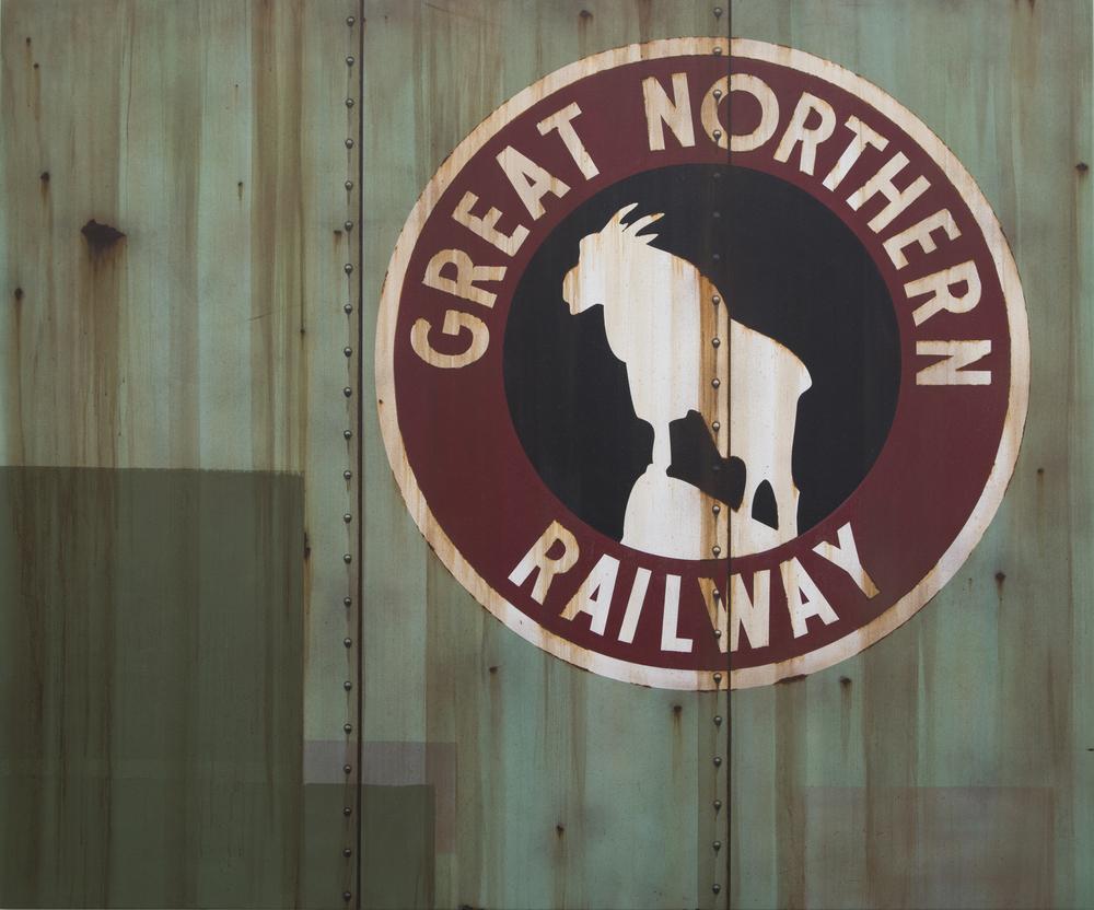Blank Canvas #40 – Great Northern, Freight Train Painting, Boxcar Painting, Railroad Art, Tim Conlon Art