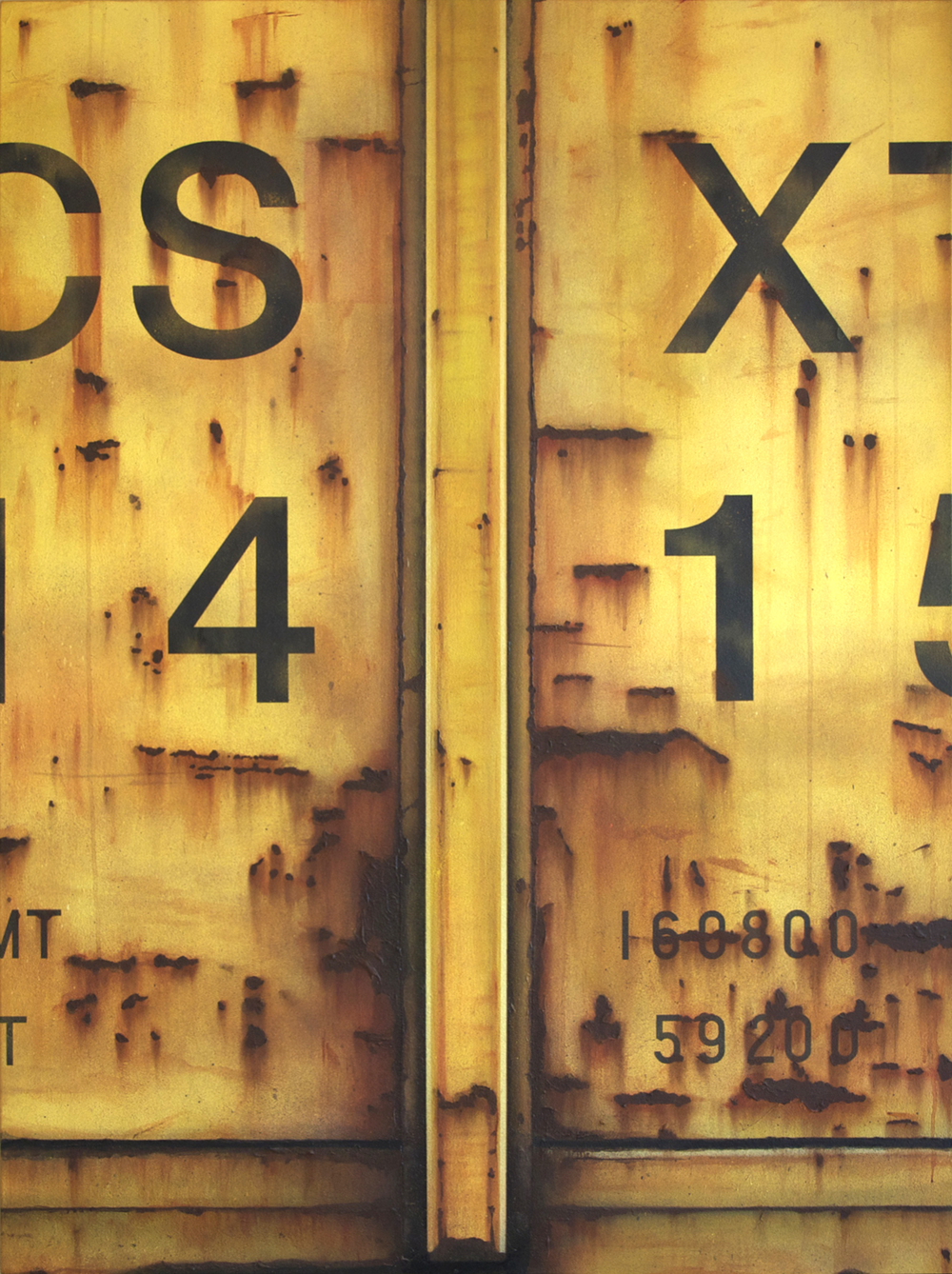 Blank Canvas #36 – CSXT, Freight Train Painting, Boxcar Painting, Railroad Art, Tim Conlon Art