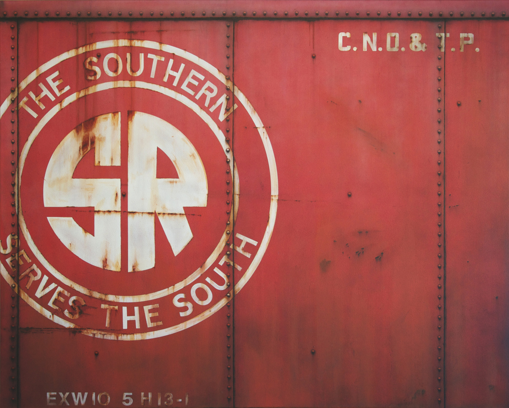 Blank Canvas #35 – SR, Freight Train Painting, Boxcar Painting, Railroad Art, Tim Conlon Art