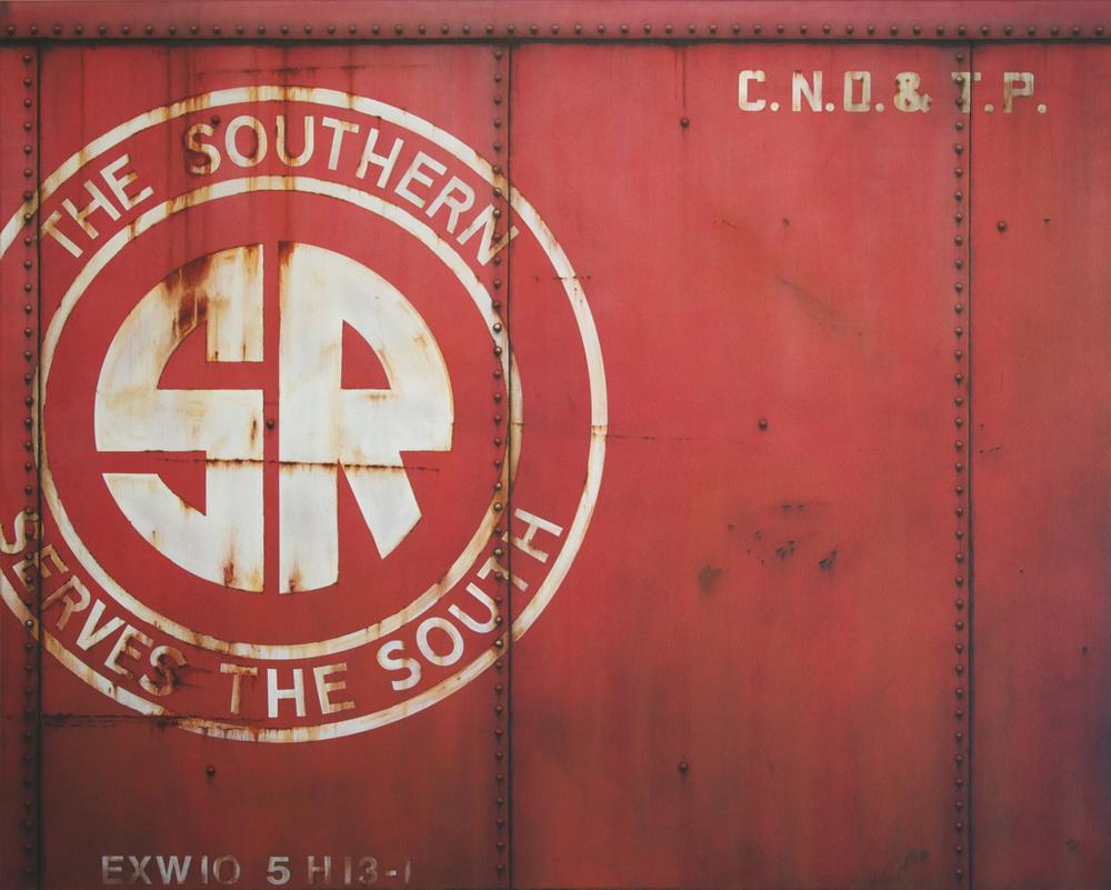 Blank Canvas #35 – SR, Freight Train Painting, Boxcar Painting, Railroad Art, Tim Conlon Art