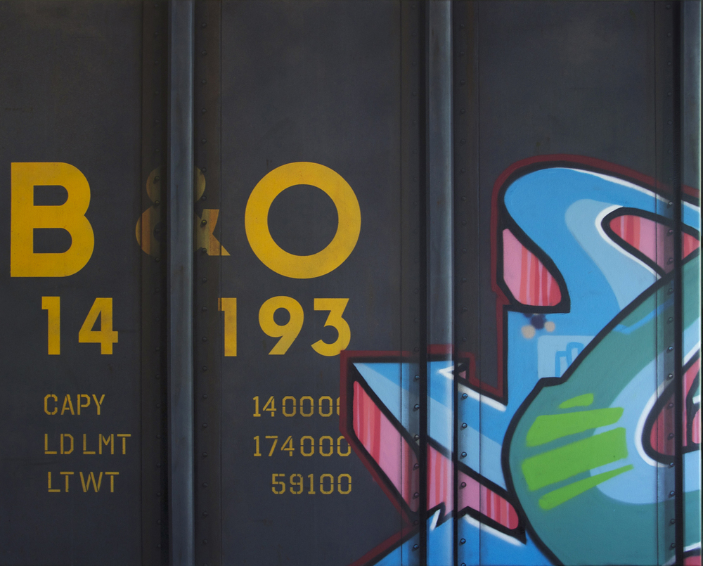 Blank Canvas #32 – B&O, Freight Train Painting, Boxcar Painting, Railroad Art, Tim Conlon Art