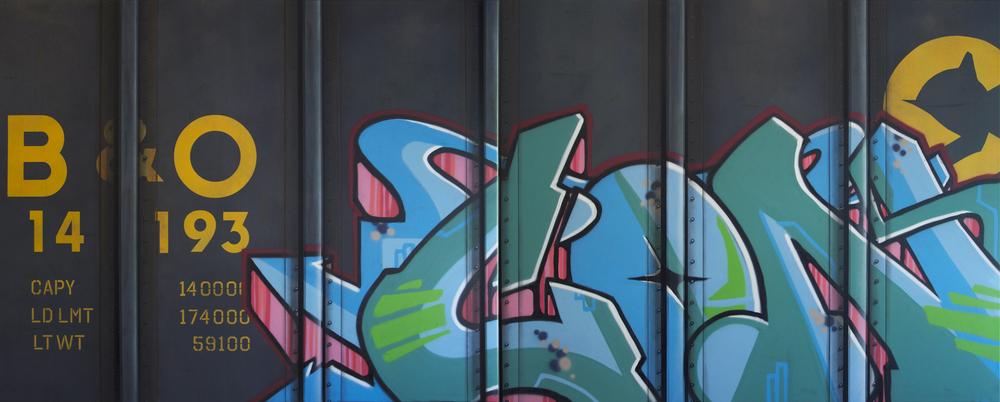 Blank Canvas #32 & 33 – B&O, Freight Train Painting, Boxcar Painting, Railroad Art, Tim Conlon Art