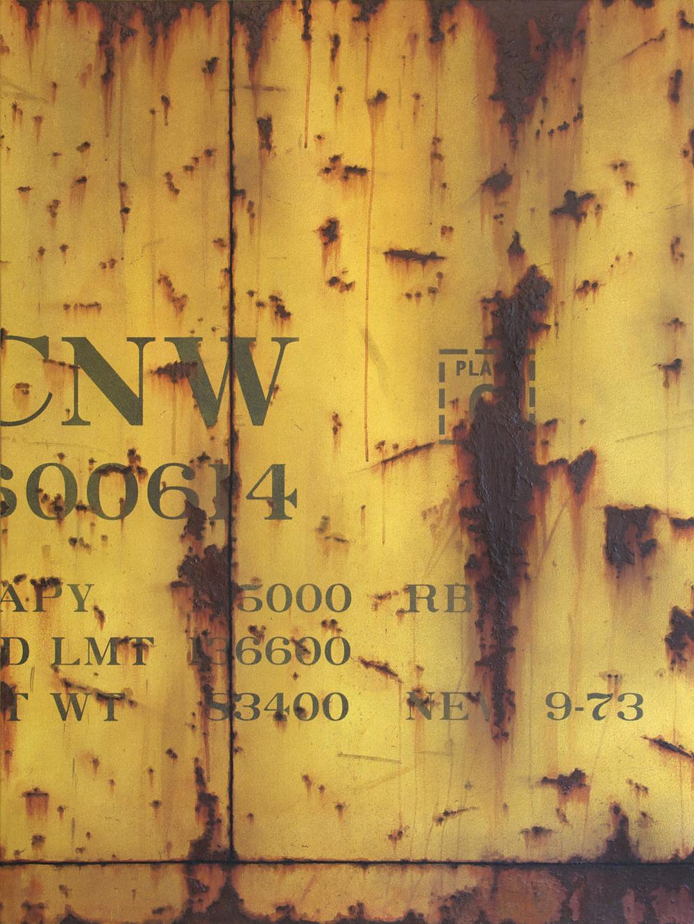 Blank Canvas #31 – CNW, Freight Train Painting, Boxcar Painting, Railroad Art, Tim Conlon Art