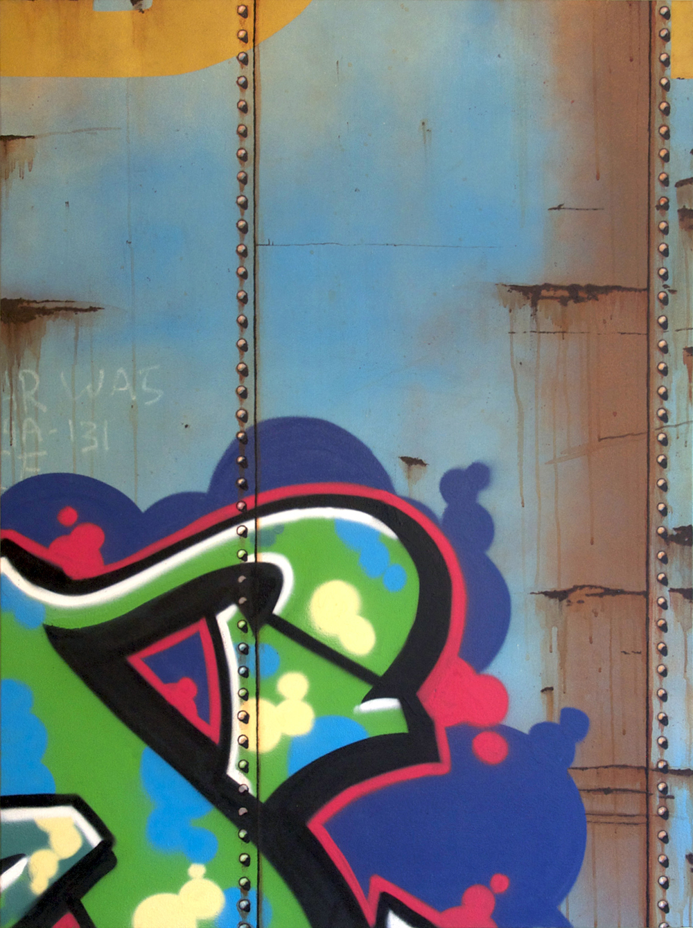 Blank Canvas #30 – DT&I, Freight Train Painting, Boxcar Painting, Railroad Art, Tim Conlon Art