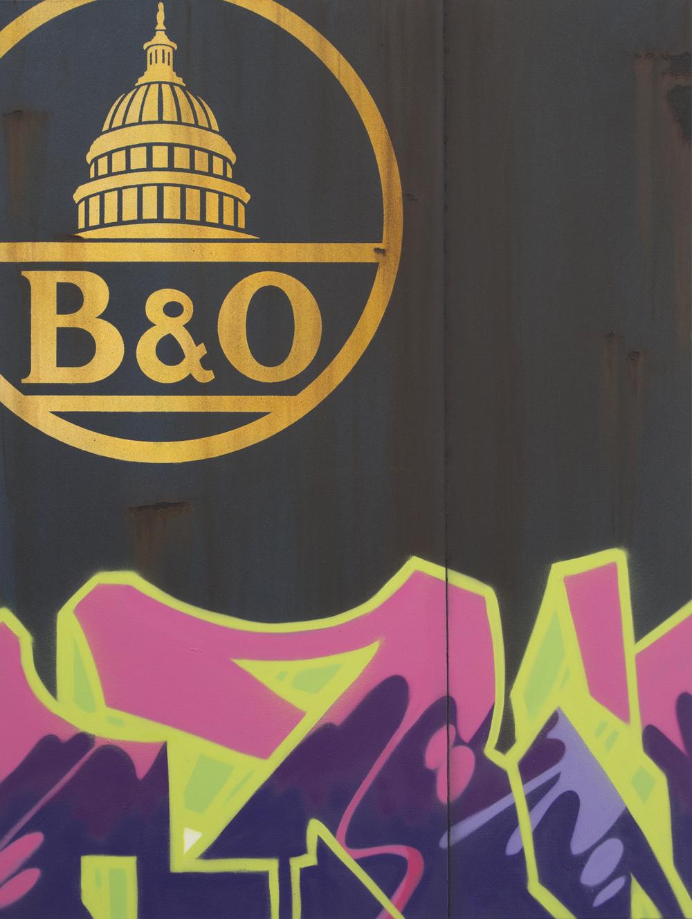 Blank Canvas #27 – B&O, Freight Train Painting, Boxcar Painting, Railroad Art, Tim Conlon Art