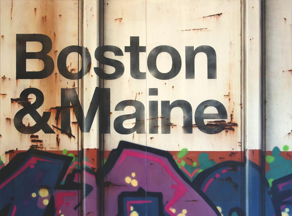 Blank Canvas #22 & 23 – B&M, Freight Train Painting, Boxcar Painting, Railroad Art, Tim Conlon Art