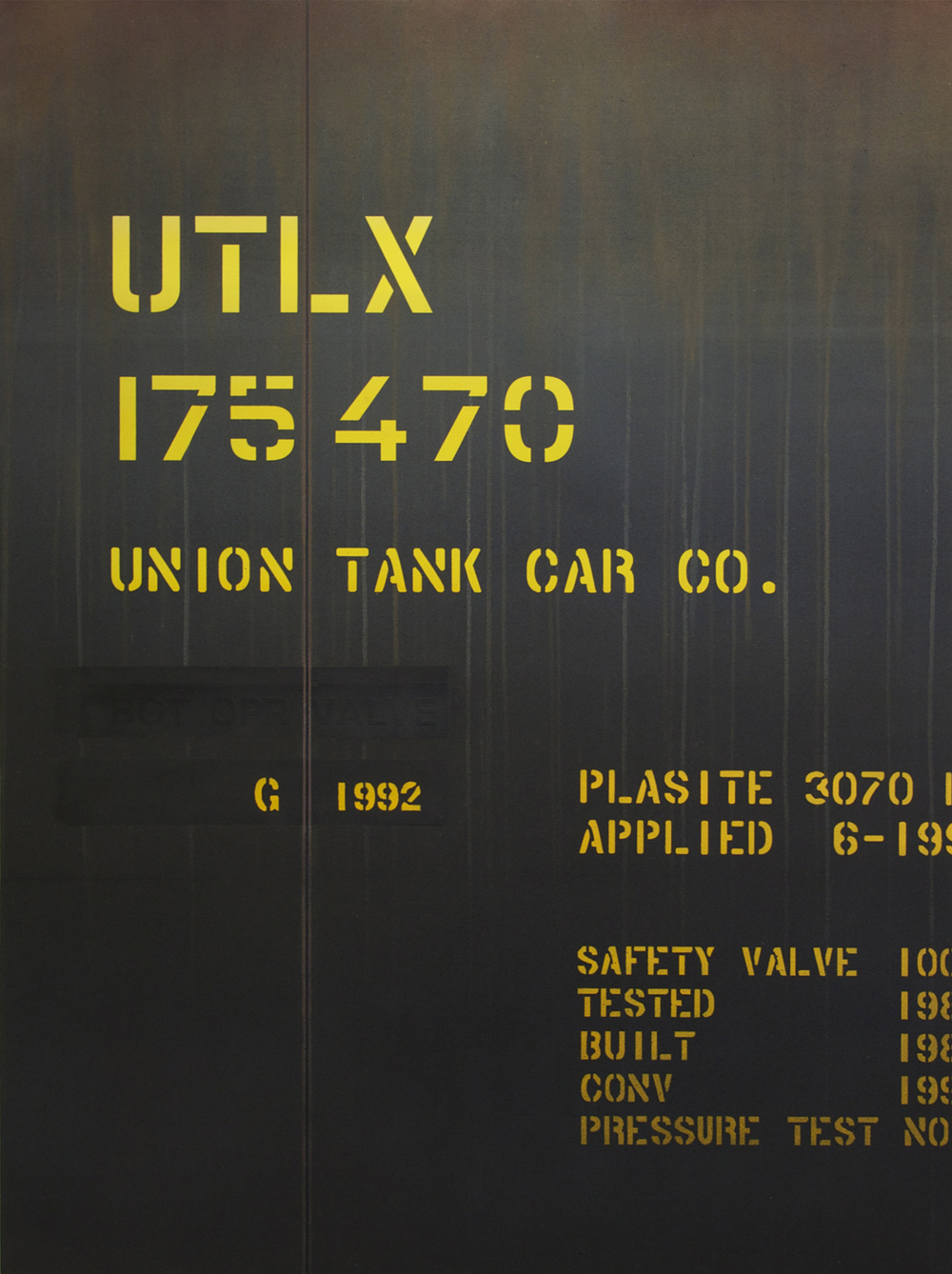 Blank Canvas #17 – UTLX, Freight Train Painting, Boxcar Painting, Railroad Art, Tim Conlon Art