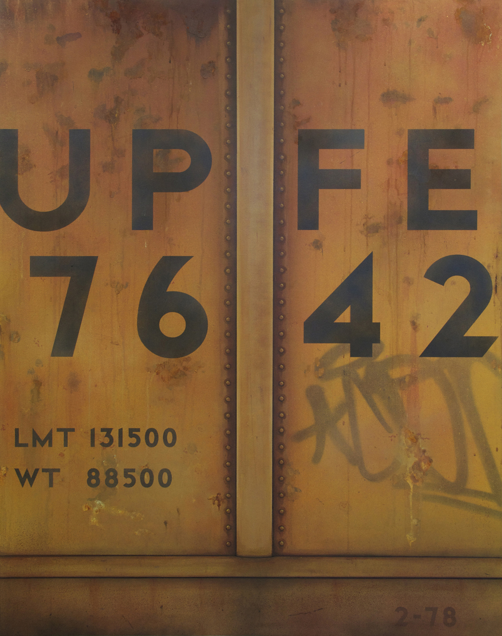Blank Canvas #14 – UPFE, Freight Train Painting, Boxcar Painting, Railroad Art, Tim Conlon Art