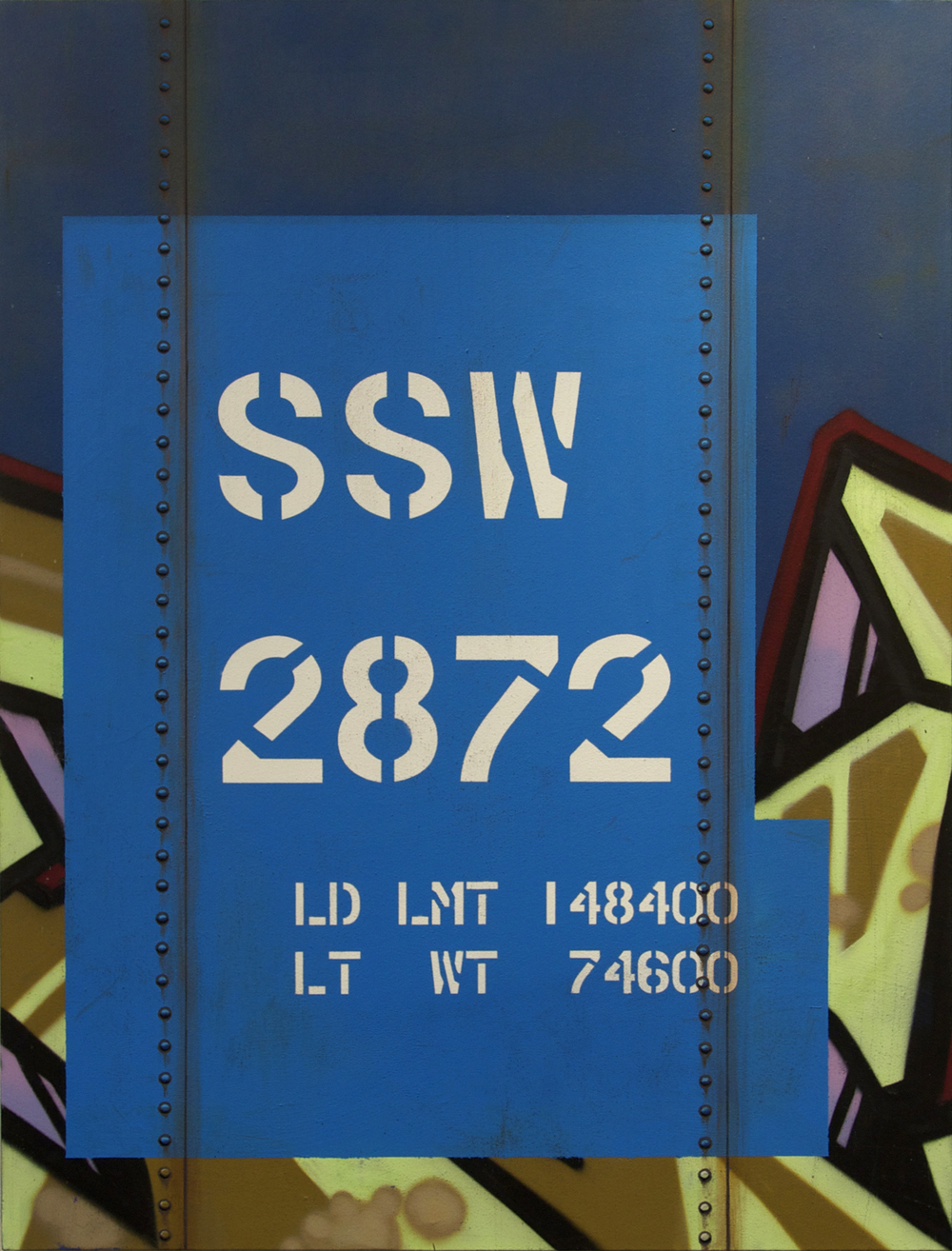 Blank Canvas #13 – SSW, Freight Train Painting, Boxcar Painting, Railroad Art, Tim Conlon Art