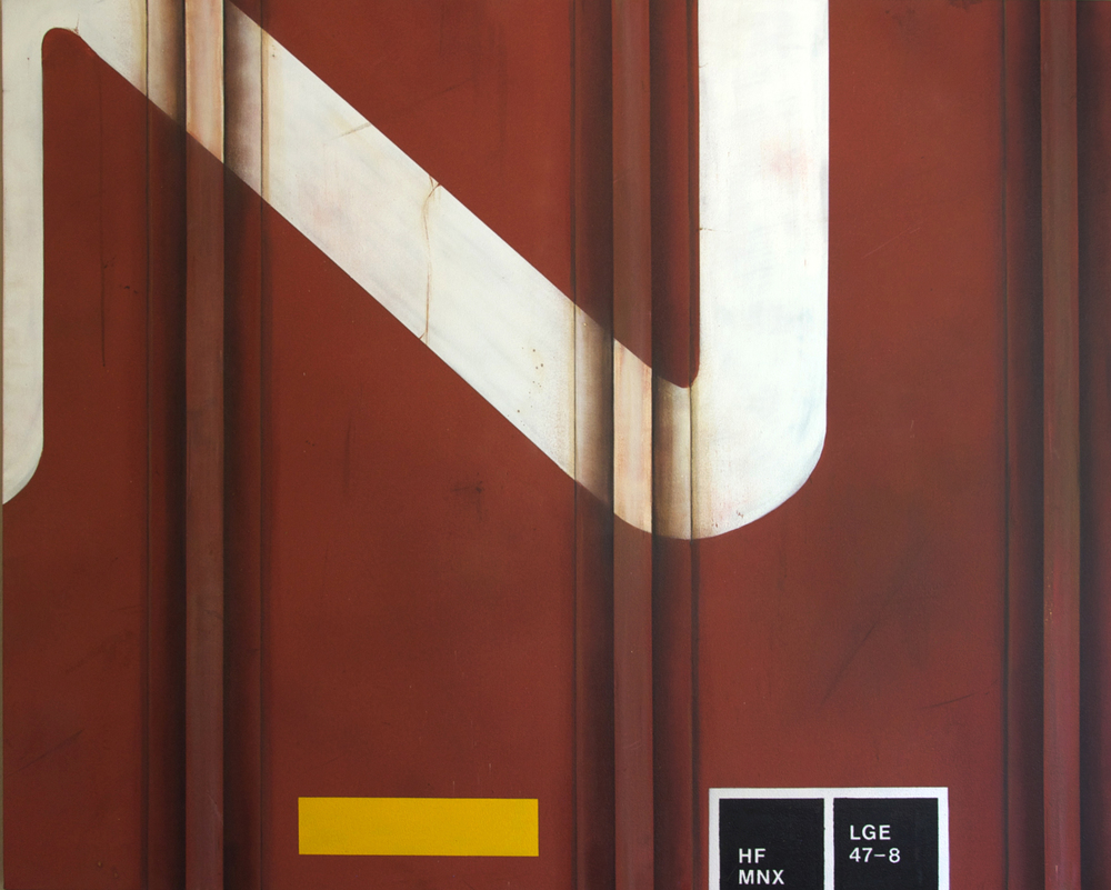 Blank Canvas #10 – CN, Freight Train Painting, Boxcar Painting, Railroad Art, Tim Conlon Art