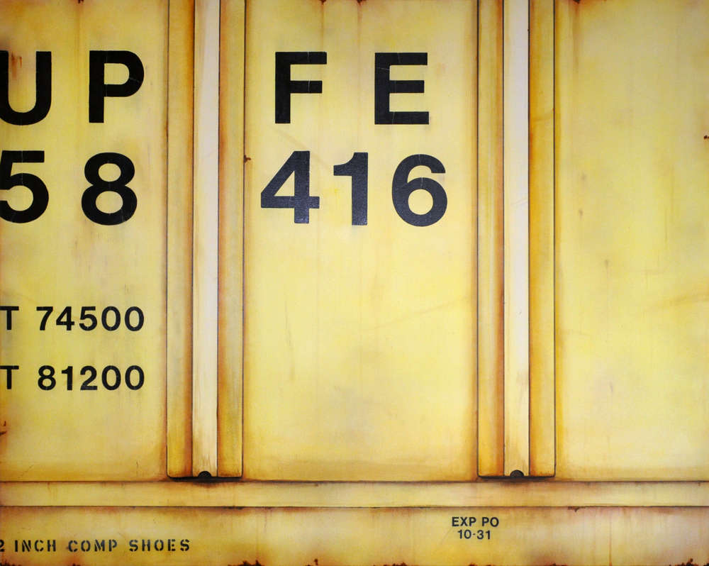 Blank Canvas #7 – UPFE, Freight Train Painting, Boxcar Painting, Railroad Art, Tim Conlon Art