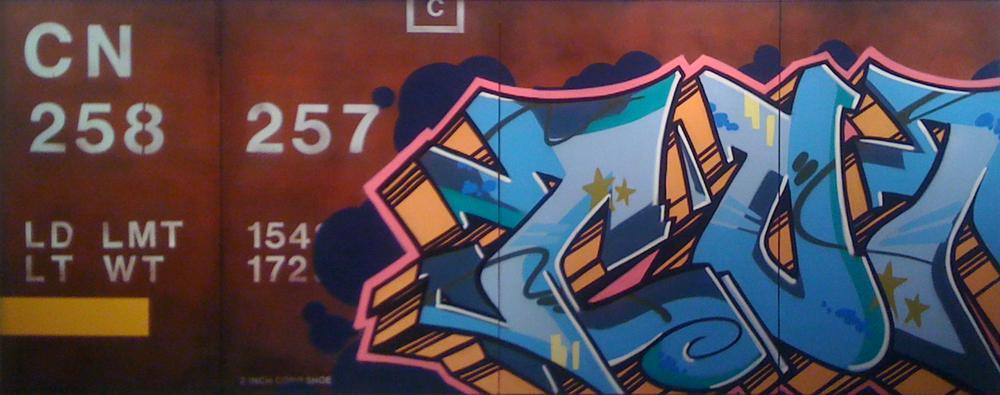 Blank Canvas #6 – CON Rail, Freight Train Painting, Boxcar Painting, Railroad Art, Tim Conlon Art