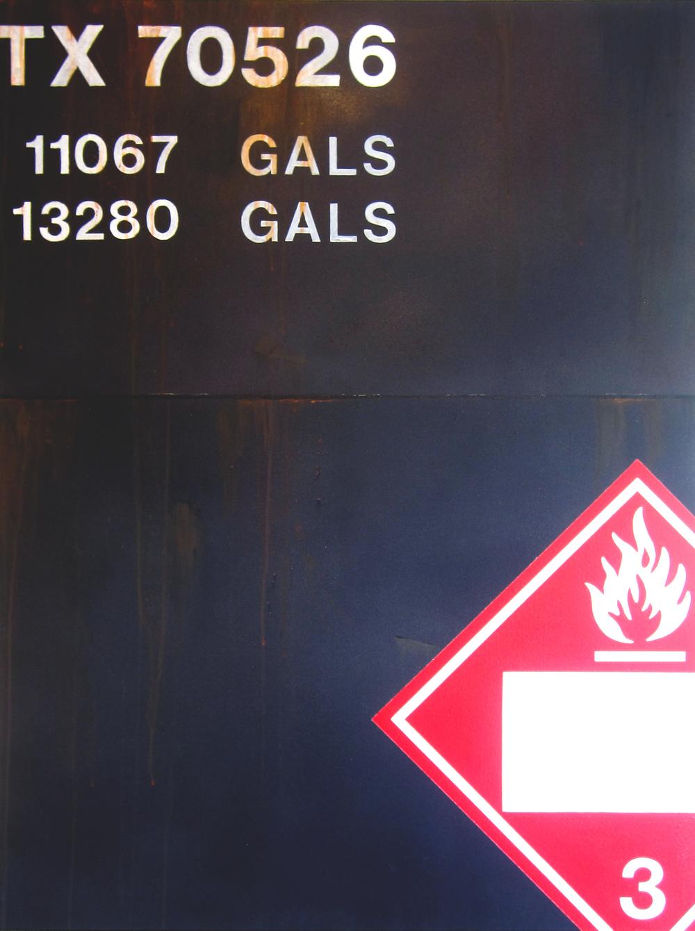 Blank Canvas #2 – Oiler, Freight Train Painting, Boxcar Painting, Railroad Art, Tim Conlon Art