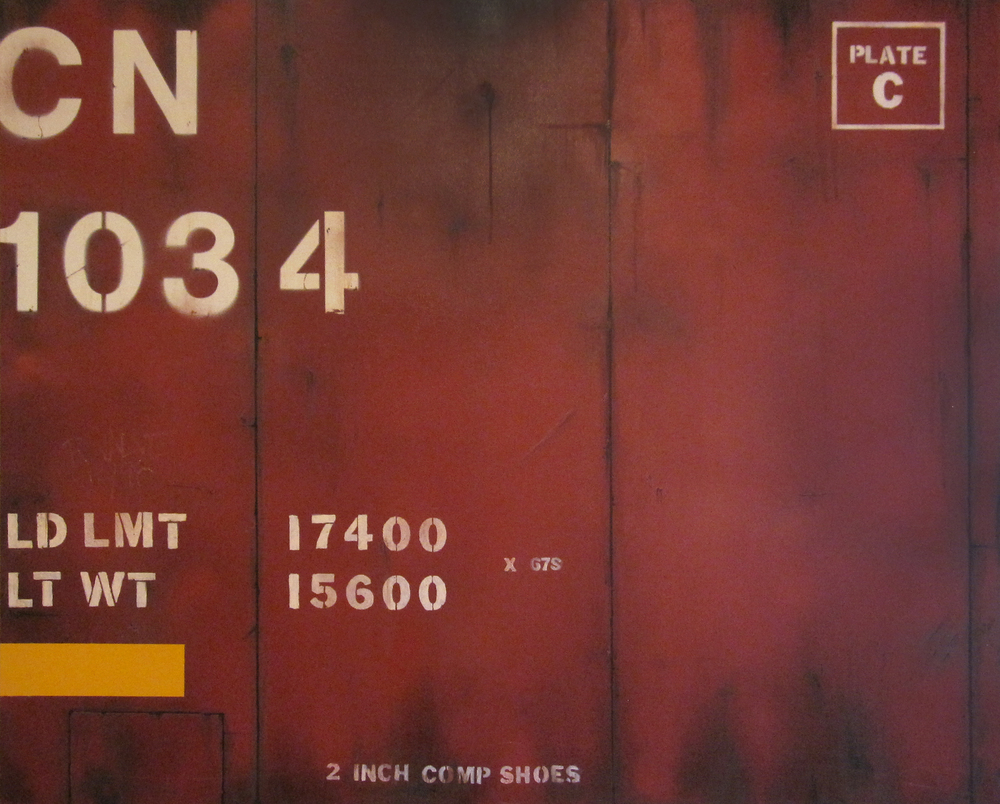 Blank Canvas #1 – CN, Freight Train Painting, Boxcar Painting, Railroad Art, Tim Conlon Art