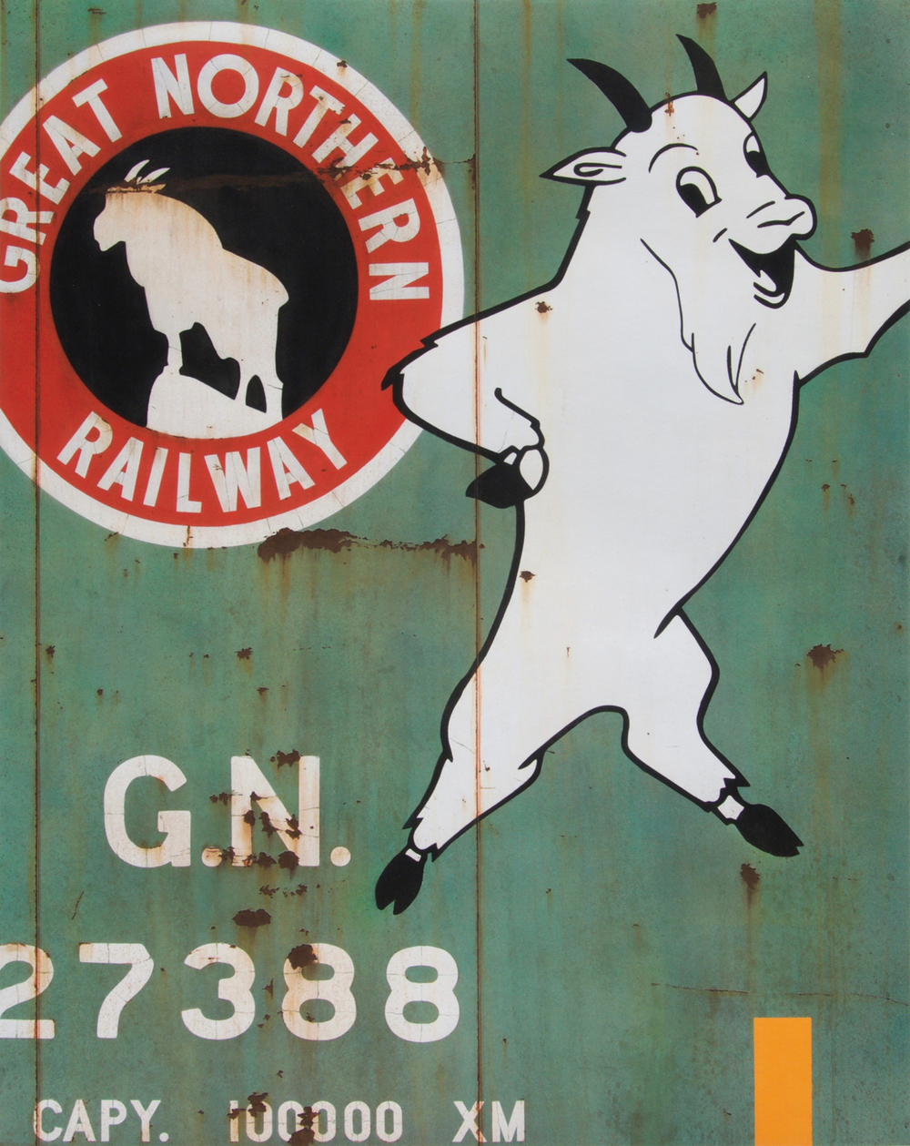 "Blank Canvas #69 - GN ""Rocky"", Freight Train Painting, Boxcar Painting, Railroad Art, Tim Conlon Art"