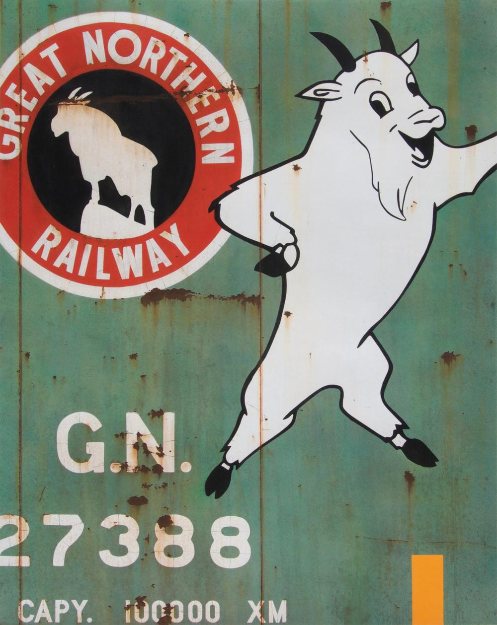 "Blank Canvas #69 - GN ""Rocky"", Freight Train Painting, Boxcar Painting, Railroad Art, Tim Conlon Art"