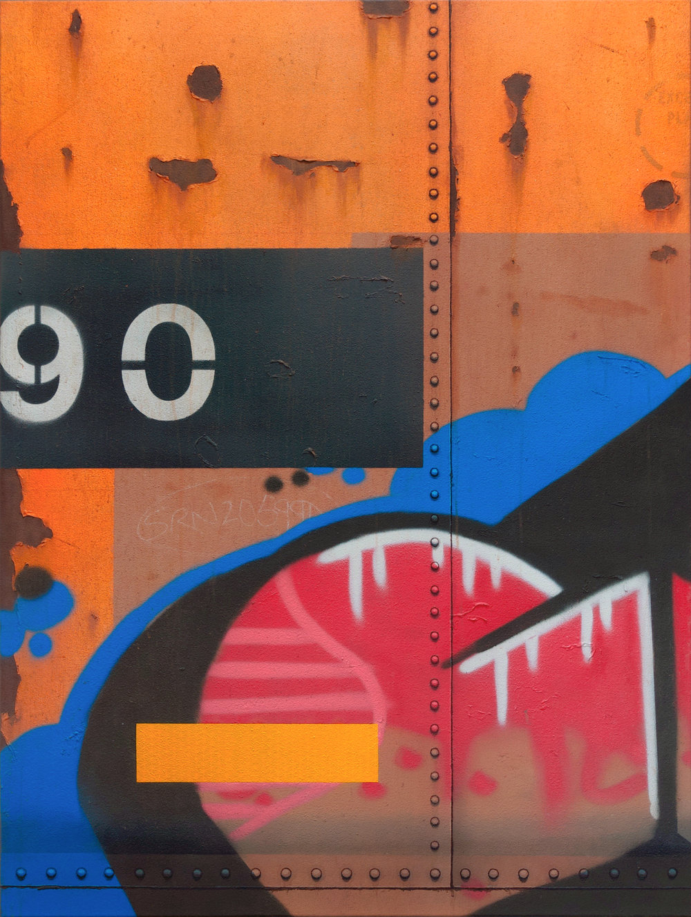 Blank Canvas #90 - SRN, Freight Train Painting, Boxcar Painting, Railroad Art, Tim Conlon Art