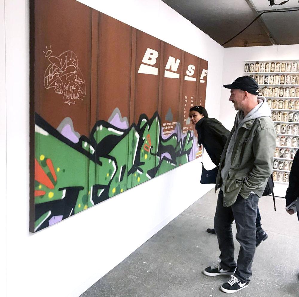 Blank Canvas #88 & 89 - BNSF, Moniker Art Fair London, Tim Conlon Art