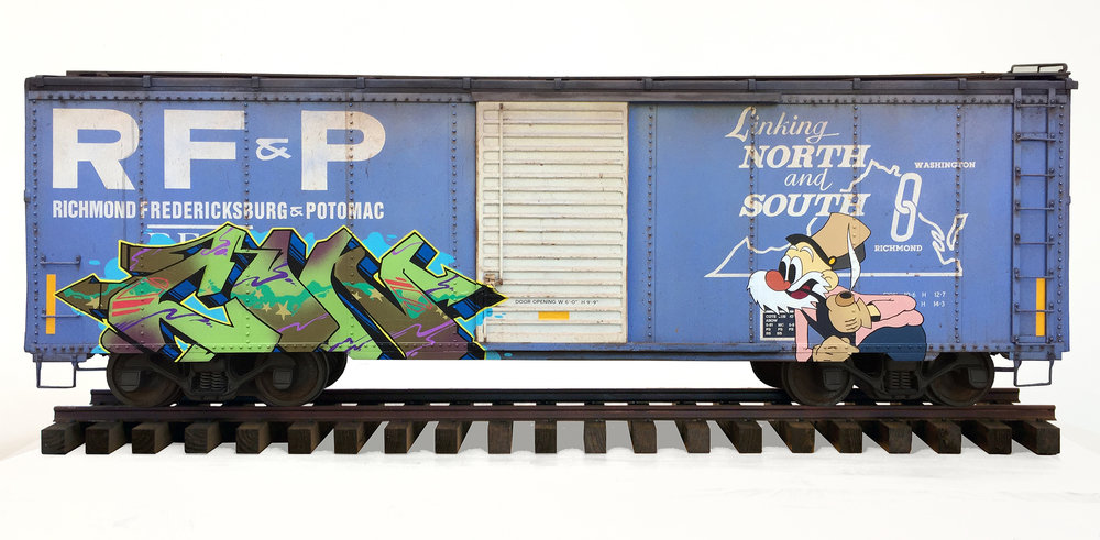 RF&P boxcar, Freight Train Painting, Freight Train Graffiti, Live Steam, Railroad Art, Tim Conlon Art