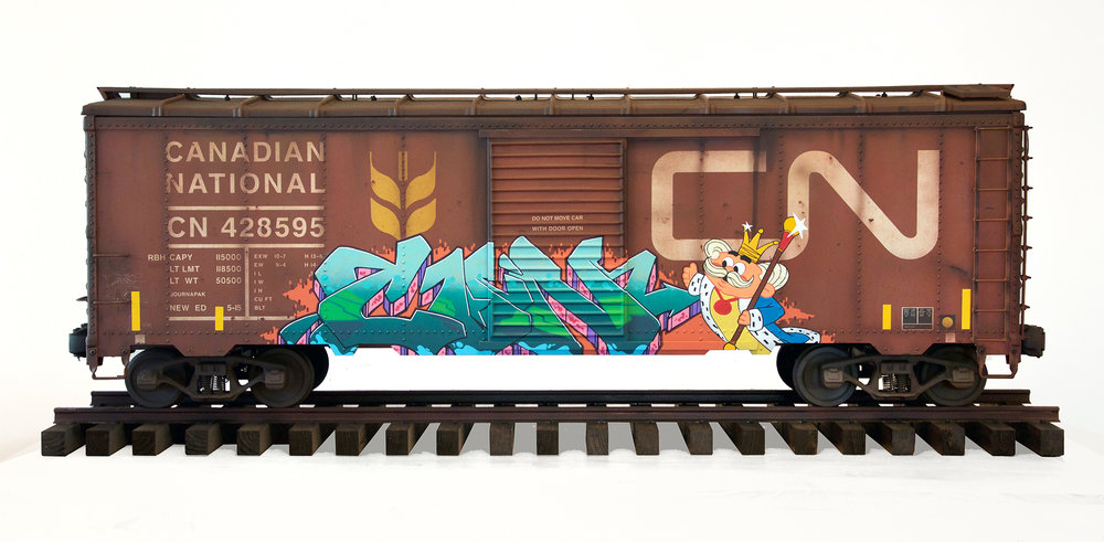 CN boxcar, Freight Train Painting, Freight Train Graffiti, Live Steam, Railroad Art, Tim Conlon Art