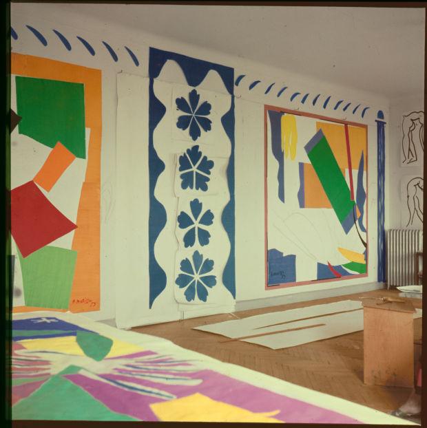 Matisse's studio, Hôtel Régina, Nice, c. 1953. (Photo: Lydia Delectorskaya. © 2014 Succession H. Matisse)