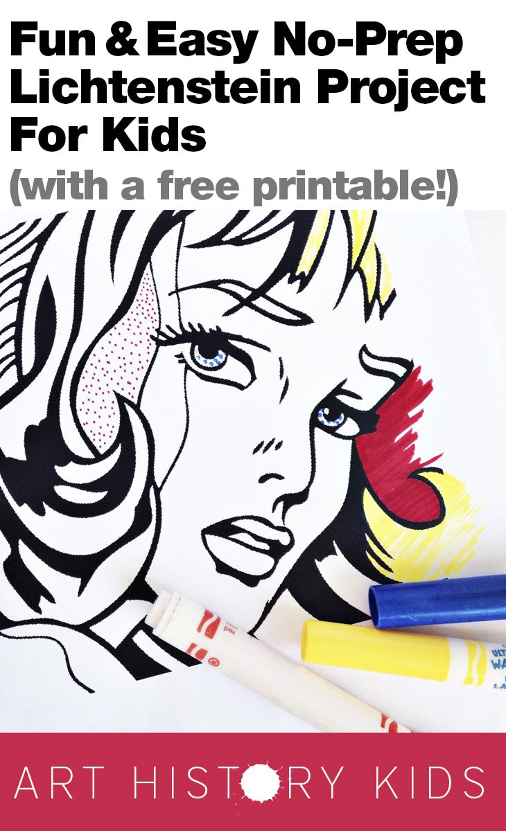 No-Prep Lichtenstein Project — Art History Kids