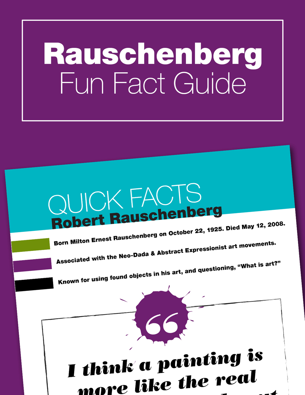 Art History Lesson about Robert Rauschenberg and his use of found objects in his art. A fun activity and lesson plan for kids doing a Rauschenberg unit study. Includes free printable.