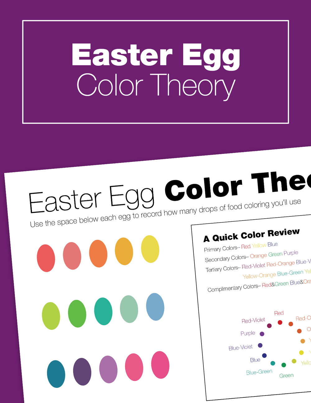 Easter Egg coloring just got educational! Become scientists and artists as you explore how many drops of food coloring it takes to mix different colors. A great intro to art history project to do with your kids in the spring!
