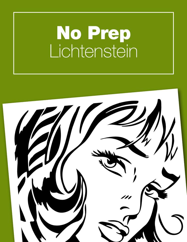 No prep lichtenstein project art history kids this no prep lichtenstein project is perfect to go along with your pop art unit voltagebd Images
