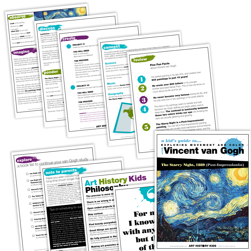 Vincent van Gogh and The Starry Night for Kids  Art History Kids
