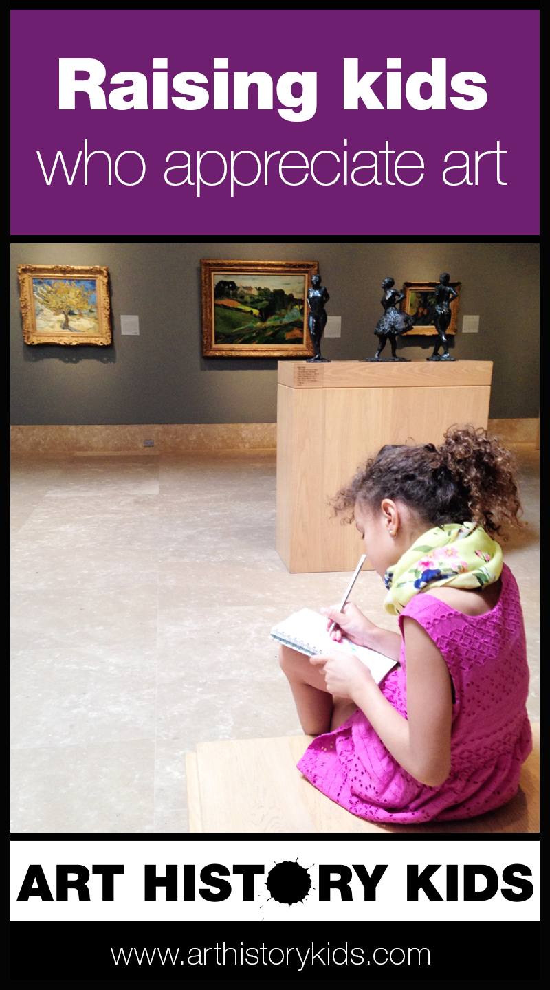 Raising kids who appreciate art is easy with these 5 simple things you can do everyday.  Art history is such a valuable subject for kids, and helps them excel in all other areas of study and life.
