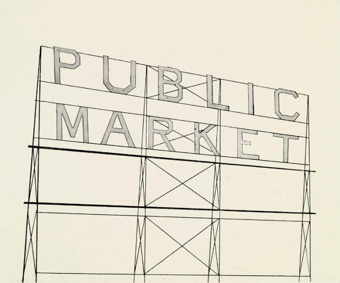 Ed Ruscha ,Public Market,2006