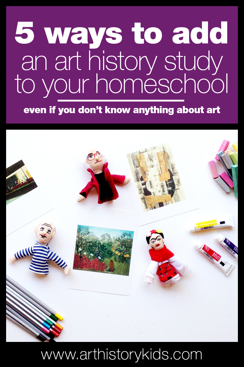 Start incorporating art history into your homeschool curriculum. It's fun and easy with these 5 simple tips.
