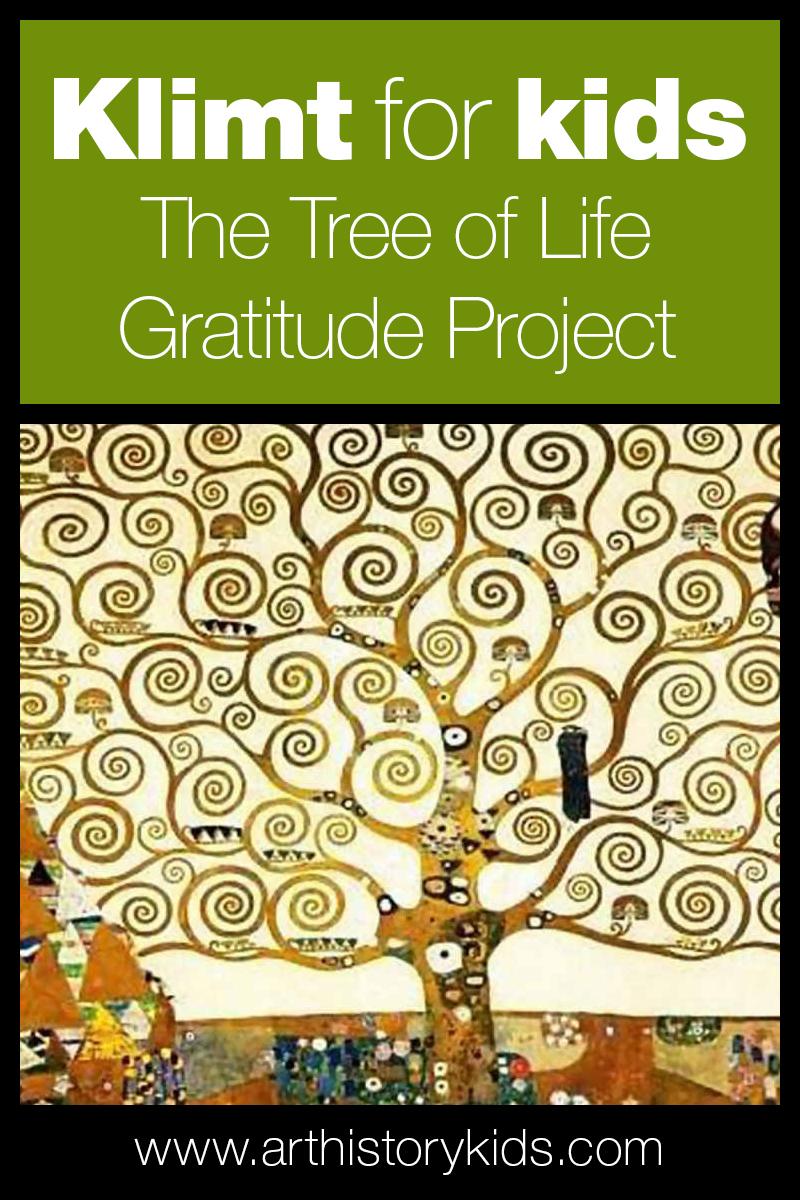 Gustav Klimt for Kids - The Tree of Life Art History Project Idea