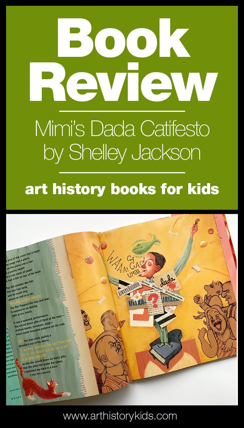 Explore the wonderful, weird, and wacky world of Dada art with your kids. Mimi's Dada Catifesto is the perfect introduction for elementary aged students.