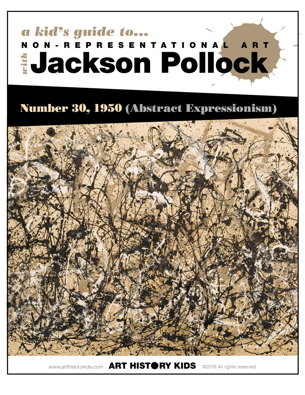 Homeschool Art – Jackson Pollock Project for Kids