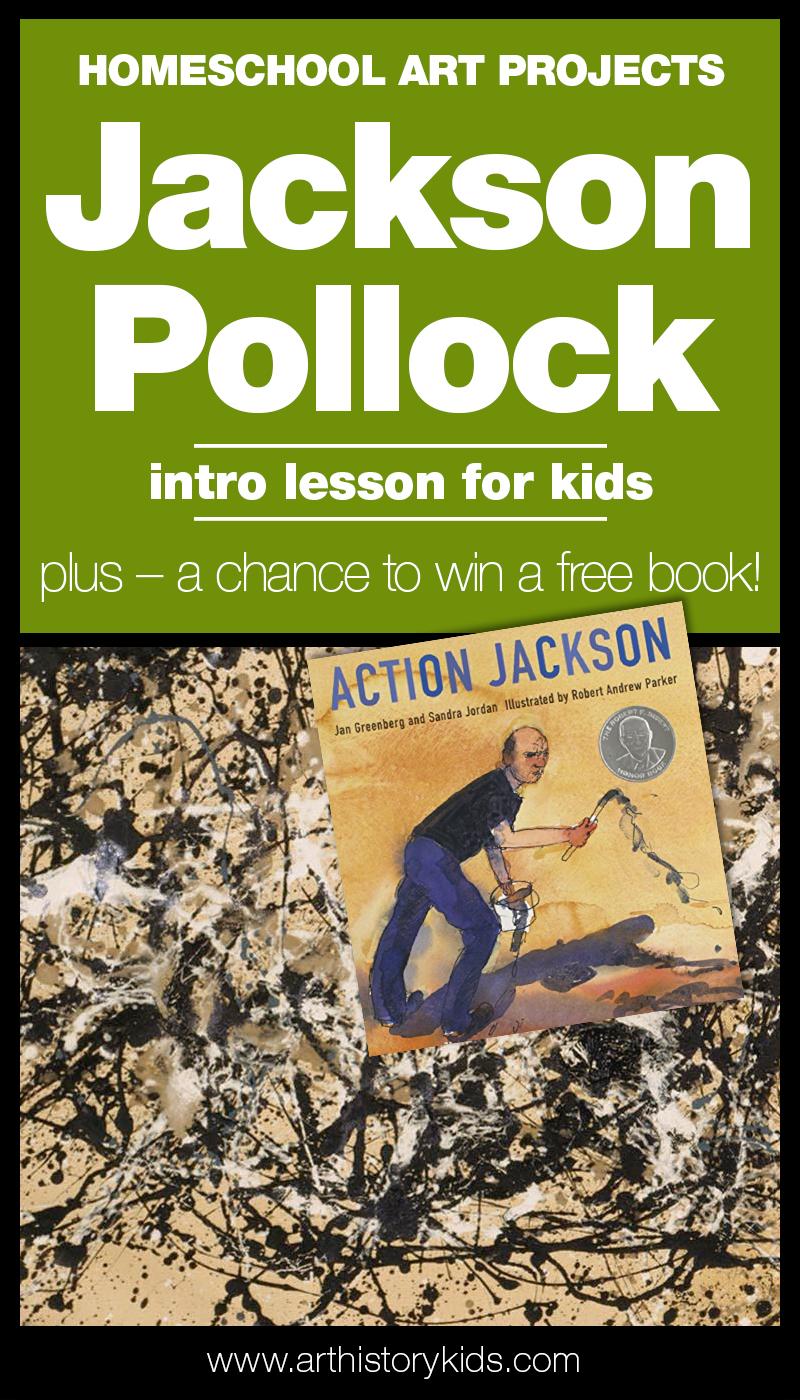 Homeschool Art – Jackson Pollock Project for Kids