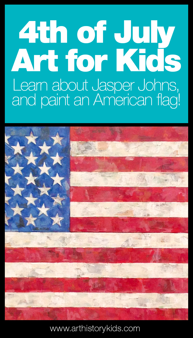 Art for Kids – Celebrate the 4th of July by doing a fun American flag art project... and learn about Jasper Johns in the process.