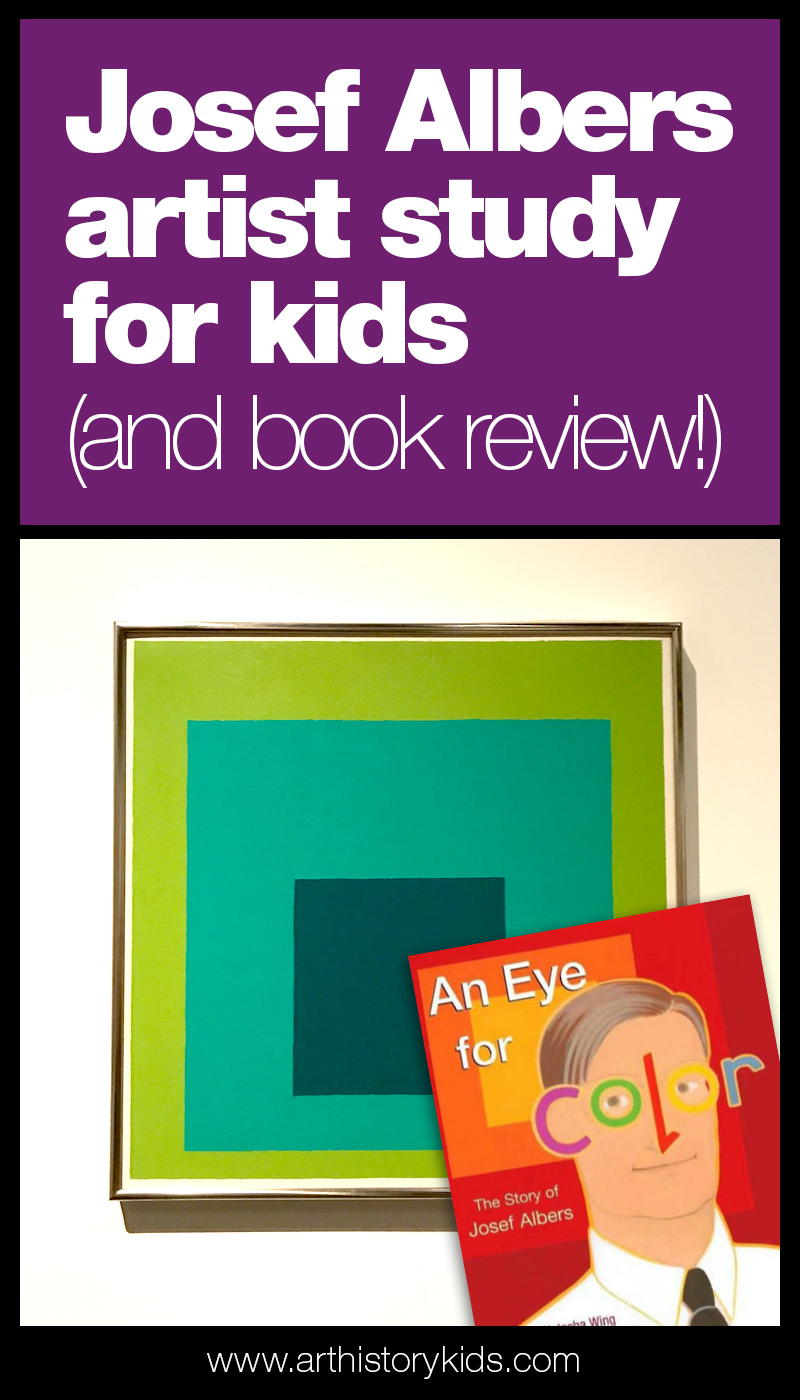Josef Albers Artist Study for Kids. Learn about color theory and his amazing Homage to the Square series of paintings!