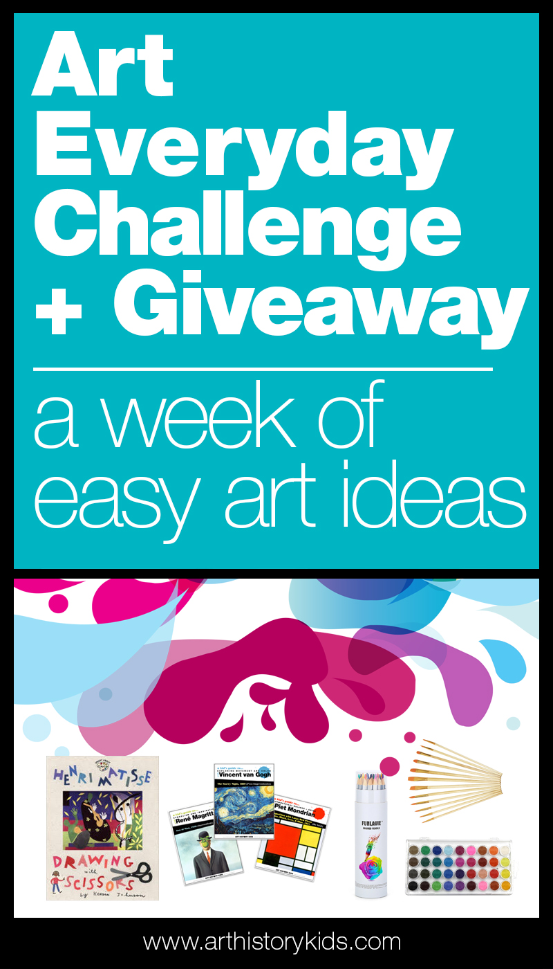 Join the Art Everyday Challenge and receive a week of free art projects for kids.