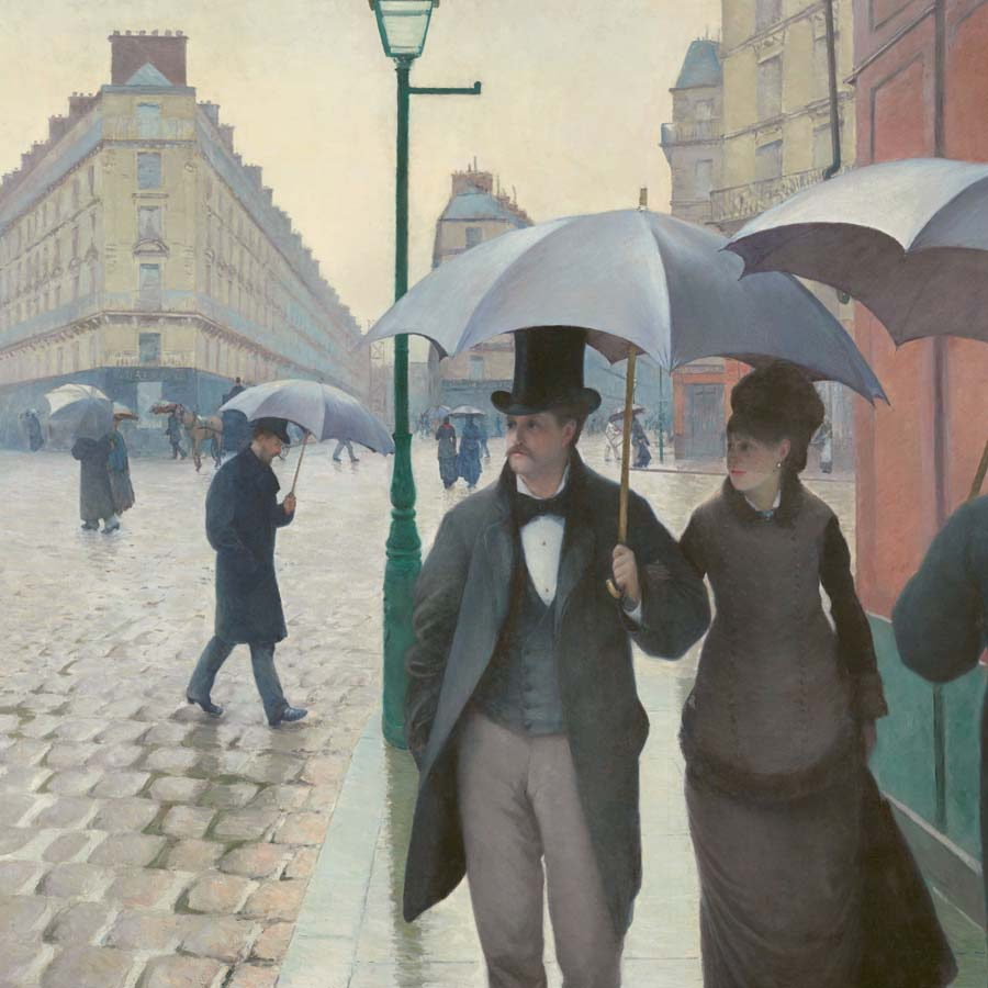 Gustave Cailebotte,   Paris Street; Rainy Day,  1877 //March 2017