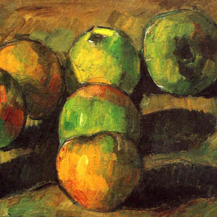 Paul Cezanne,   Still Life with Seven Apples,  1878 //November 2017
