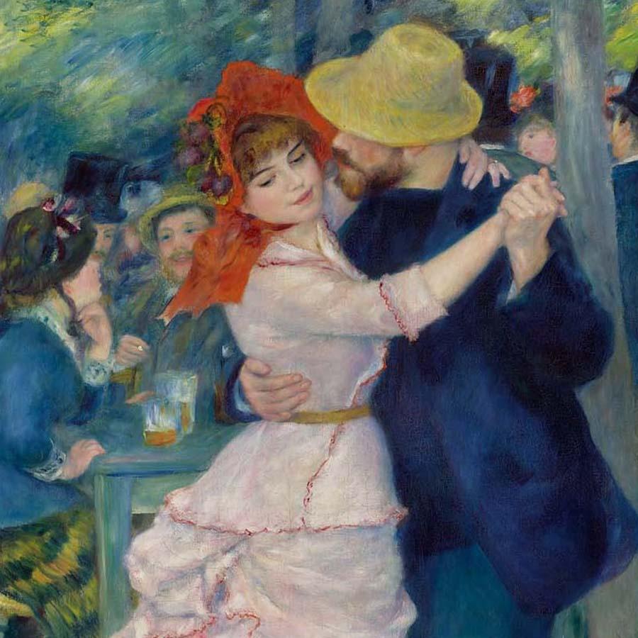 Pierre-Auguste Renoir,   Dance at Bougival,  1883 //September 2017